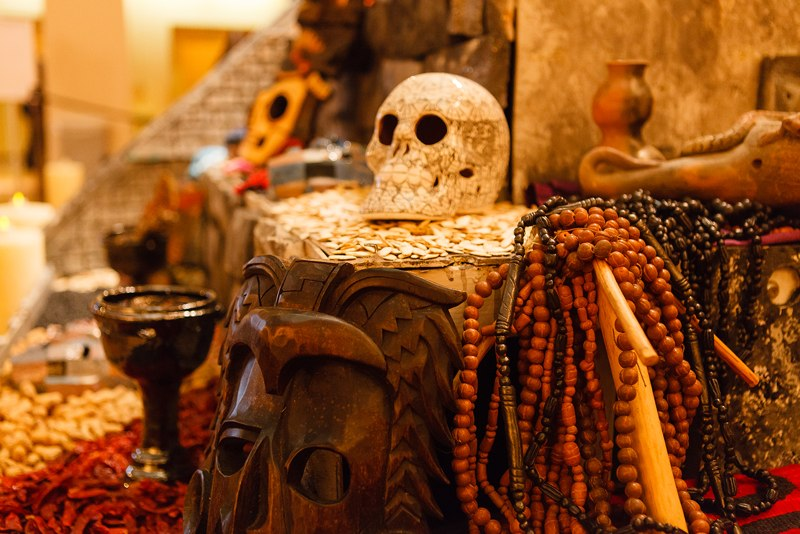 CopalIncense - burned to commemorate Pre-Columbian history.