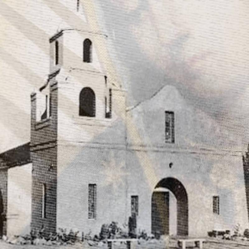 Scottsdale Old Adobe Mission. Scottsdale, AZ (1933)  Visit the Old Adobe Mission