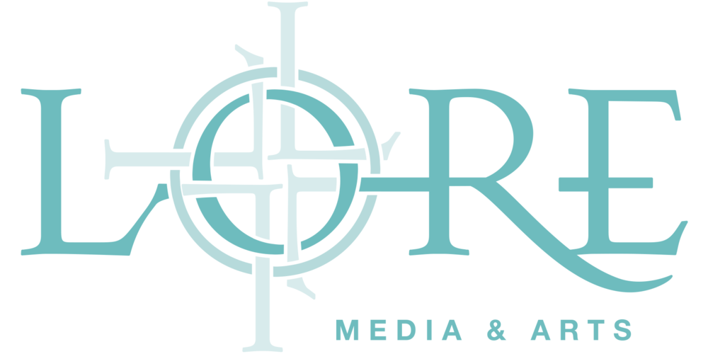 LORE MEDIA & ARTS Logo TEAL OvrWhite.png