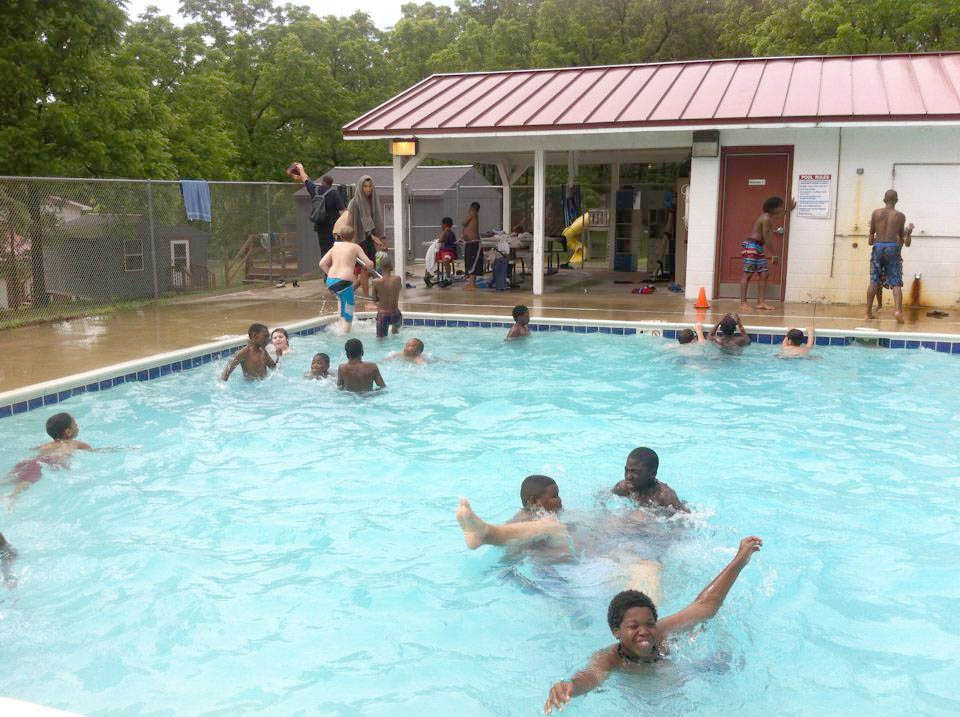 Summer Camp fun in the pool!