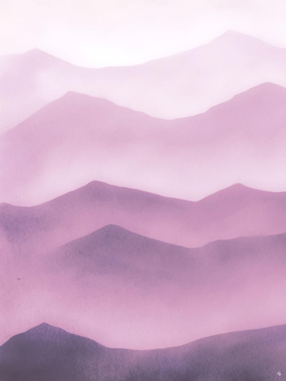 Violet peaks