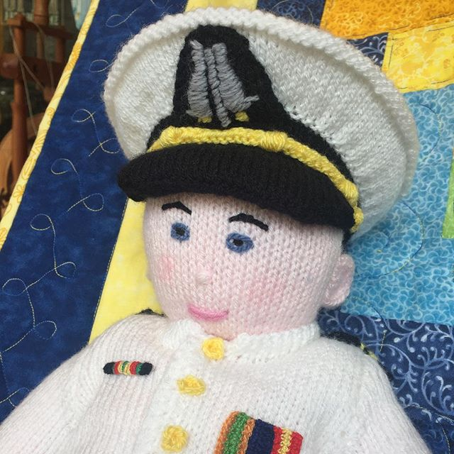 Smile, it's Friday! #navy #annapolis #knitting #midshipmen #cute #yarn #localyarnshop #shopsmall #shoplocal #maryland