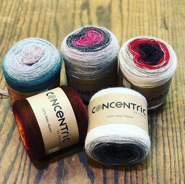 Loving this #concentricbyhikoo yarn! #yarnbasketmaryland #yarnporn #yarnaholic #yarnstore #getemwhiletheyrehot
