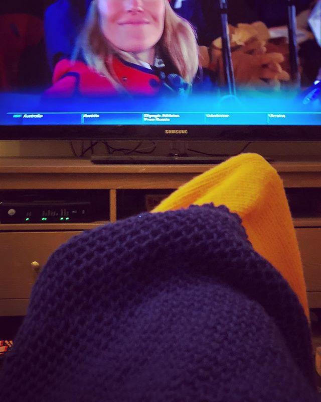 #briocheknitting and #openingceremony = #myfridaynight #usausausa #knitolympics #knitlife #beroccovintage #stellawrap #knitting #yarn #yarnbasketmaryland