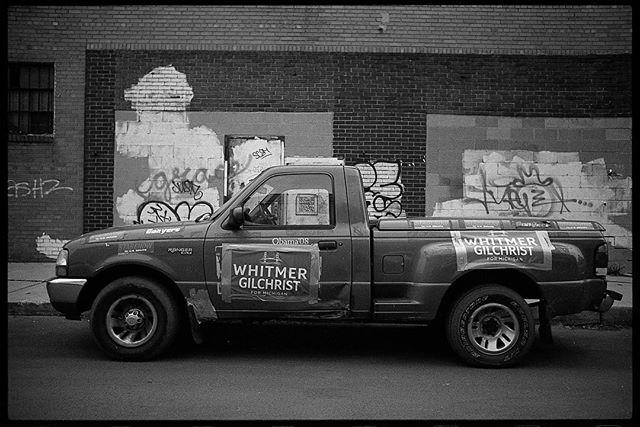 democratic stepside. • Nikon F2 Nikkor 28mm f/3.5 Ilford hp5+ • #nikonf2 #ilfordhp5 #ilfordphoto #blackandwhite #film #filmisnotdead #filmisalive #filmphotographic #photofilmy #filmphotography #heyfsc #filmcommunity #ishootfilm #believeinfilm #buyfilmnotmegapixels #35mm #35mmfilm #analog #analogphotography #filmcommunity #justgoshoot #staybrokeshootfilm #shotonfilm #easternmarket
