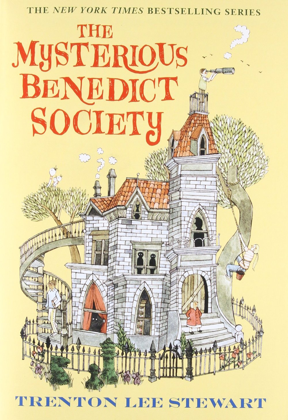 """""""In a city called Stonetown, near a port called Stonetown Harbor, a boy named Reynie Muldoon was preparing to take an important test."""" - -First sentence of The Mysterious Benedict Society by Trenton Lee Stewart"""
