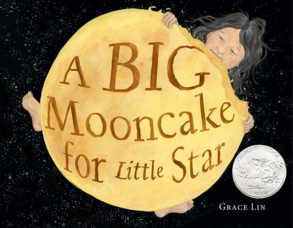 A Big Mooncake for Little Star is visually stunning. The story creatively shares the phases of the moon and the illustrations are a beautiful contrast in colors, making this another special book from Grace Lin. -