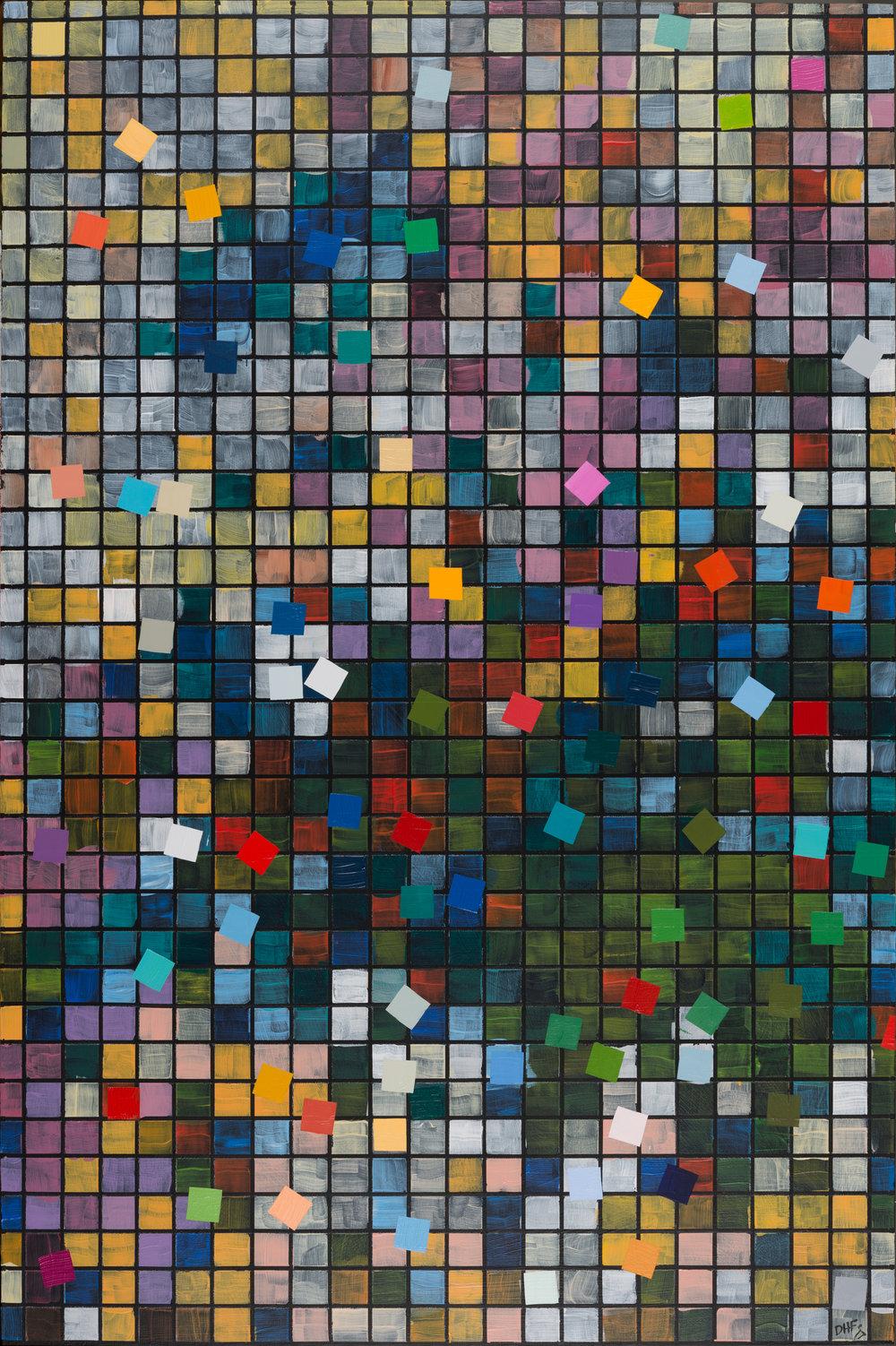 """24x36 #1, 24""""x36"""", 2017, acrylic on panel"""