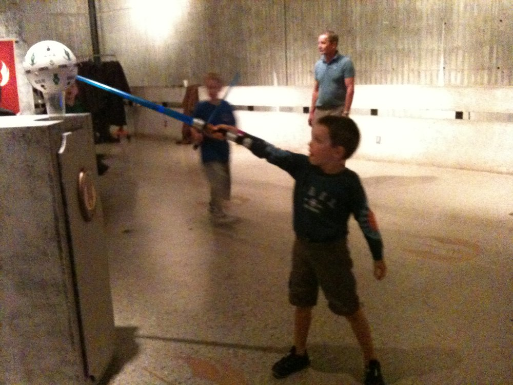 Light Sabres at Jedi Space Camp