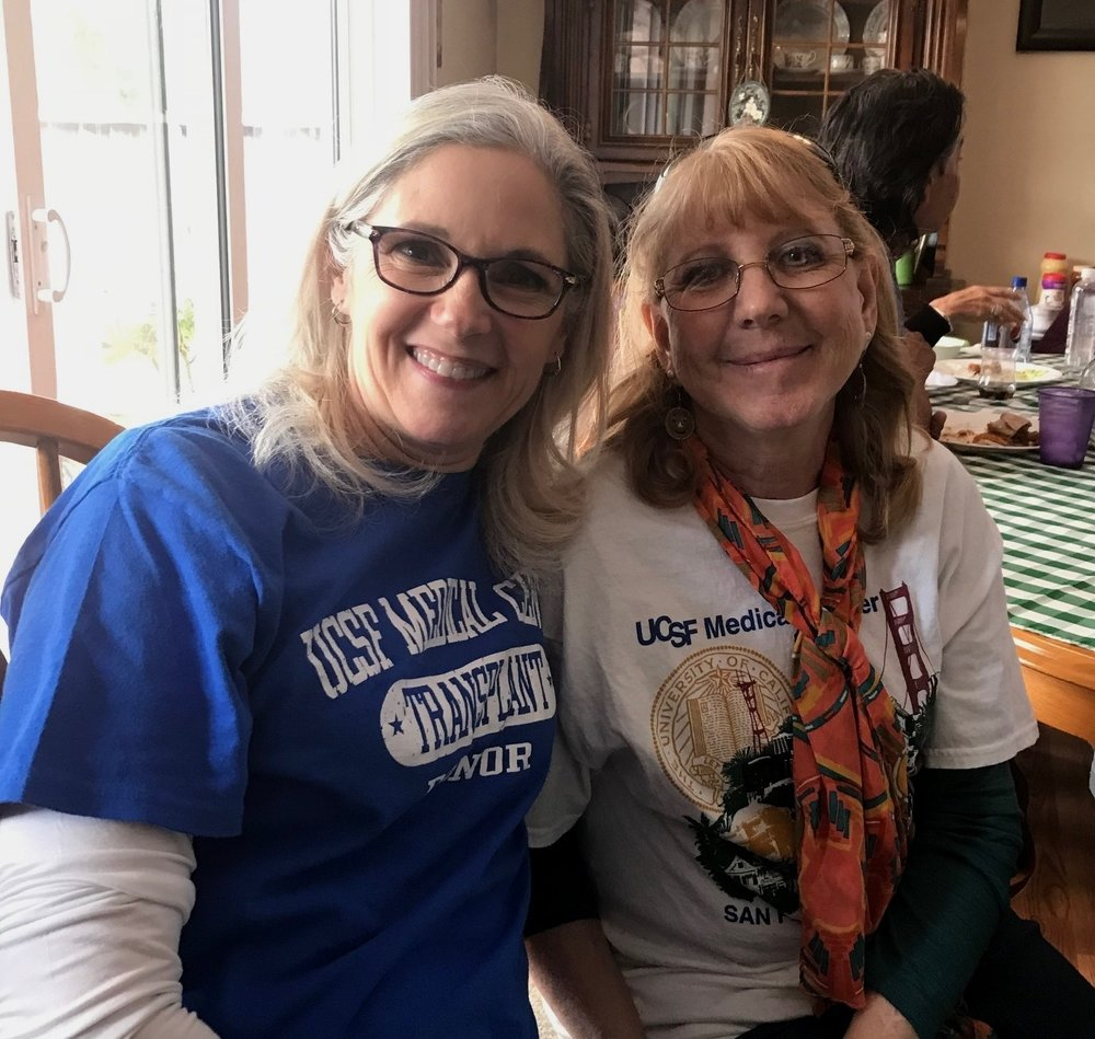 Because Barb Matulionis, left, didn't give up on becoming an altruistic kidney donor, her recipient, Deanna, right, and five other people received life-saving kidney transplants.