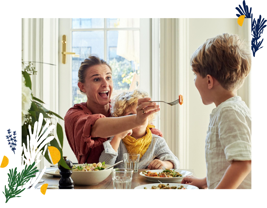 Enjoy - Share beautiful, healthy, ready-to-enjoy meals with friends and family.