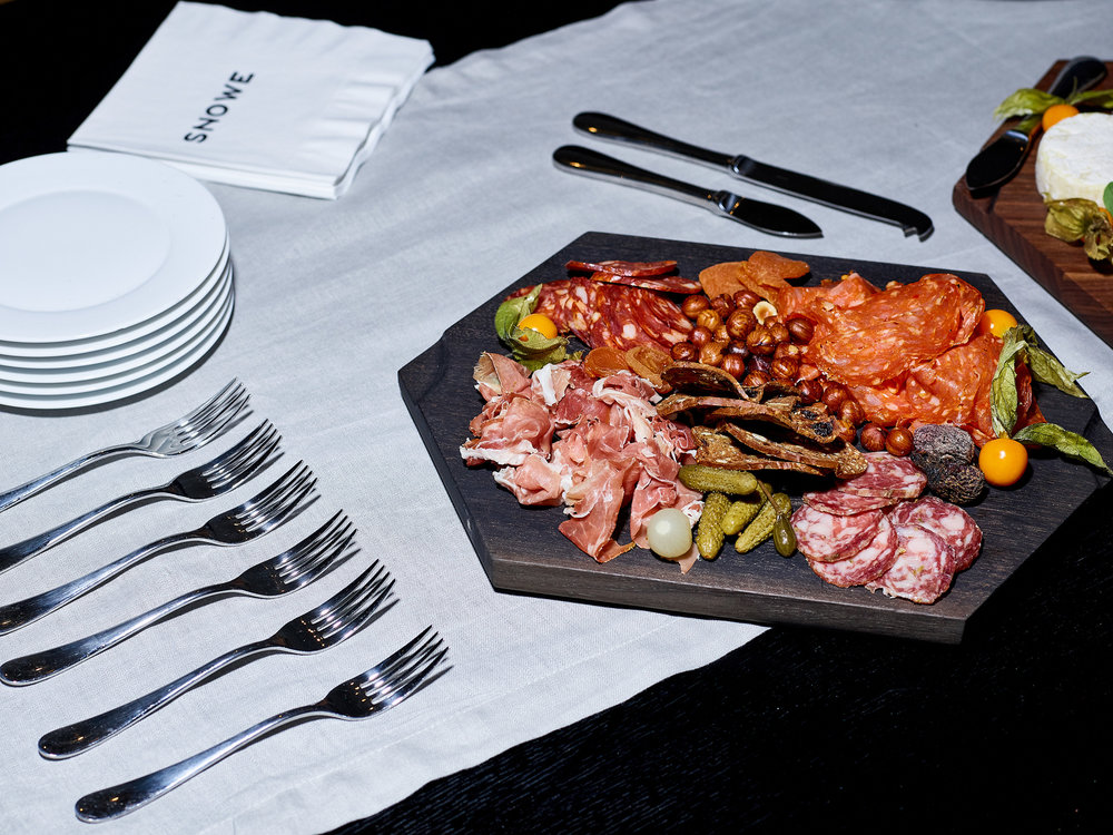 Elevated charcuterie for the Snowe Home launch party