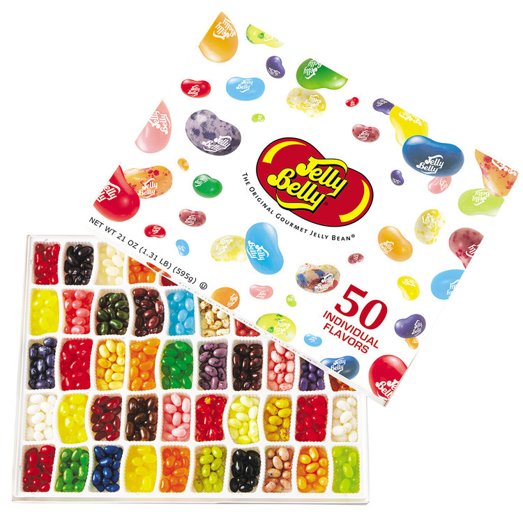 Ahhh yes..those Jelly Belly   We are celebrating our Biggest year of success with the King of Jelly Beans !  Just let us know and with our sincerest pleasure and great thanks a box will be on its way to your HOME.    Please please please ask for one !