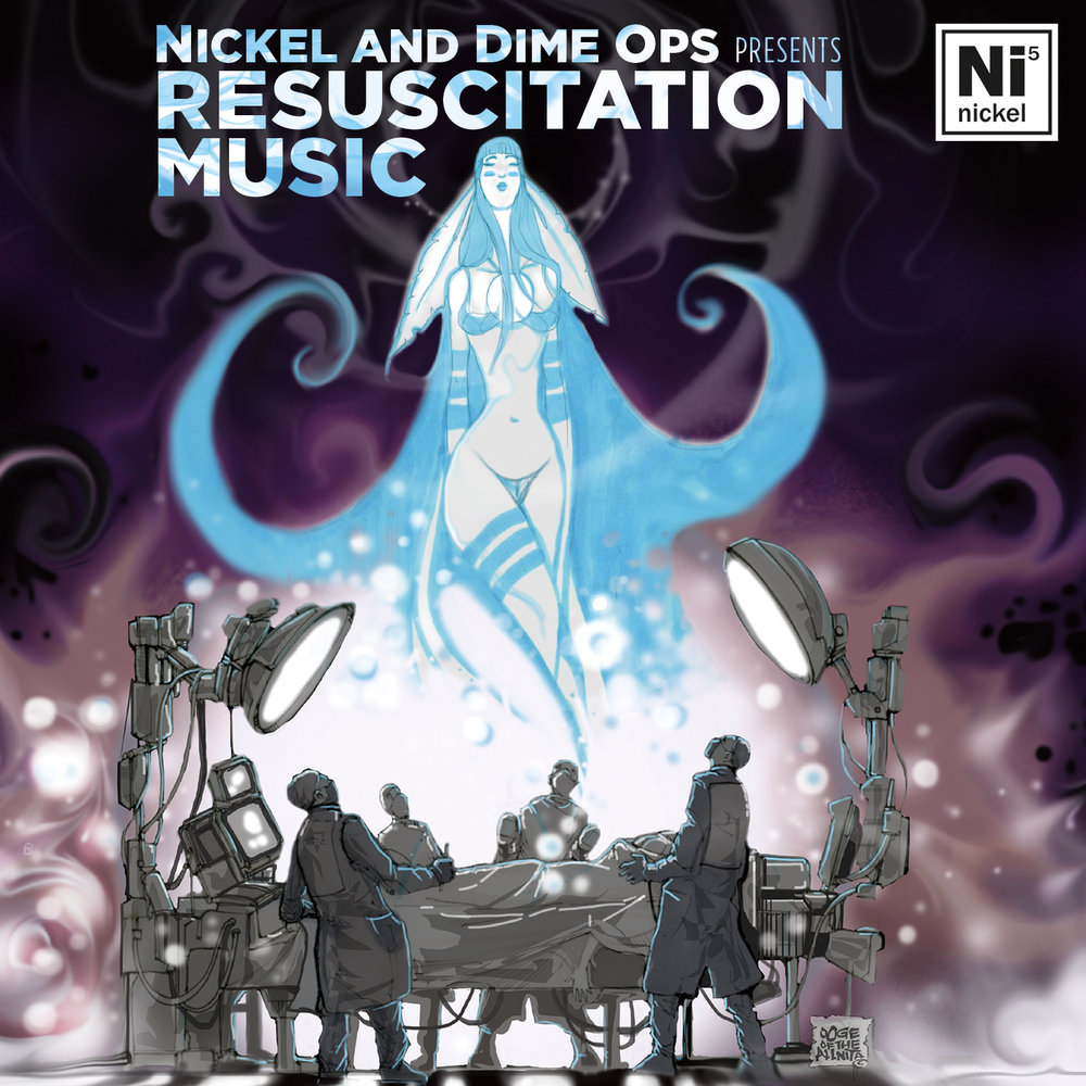 Resuscitation Music - In 2017 Nickel and Dime Ops completed a successful crowd funding campaign which allowed them to get into the studio to record their latest album. The result is a 13 track musical and lyrical masterpiece they are titling Resuscitation Music. The album features several guest vocalists including, Jean Baylor, Camille Thurman, and Boyd of Phantom Vanity.Sakeenah Benjamin of Radio One says,