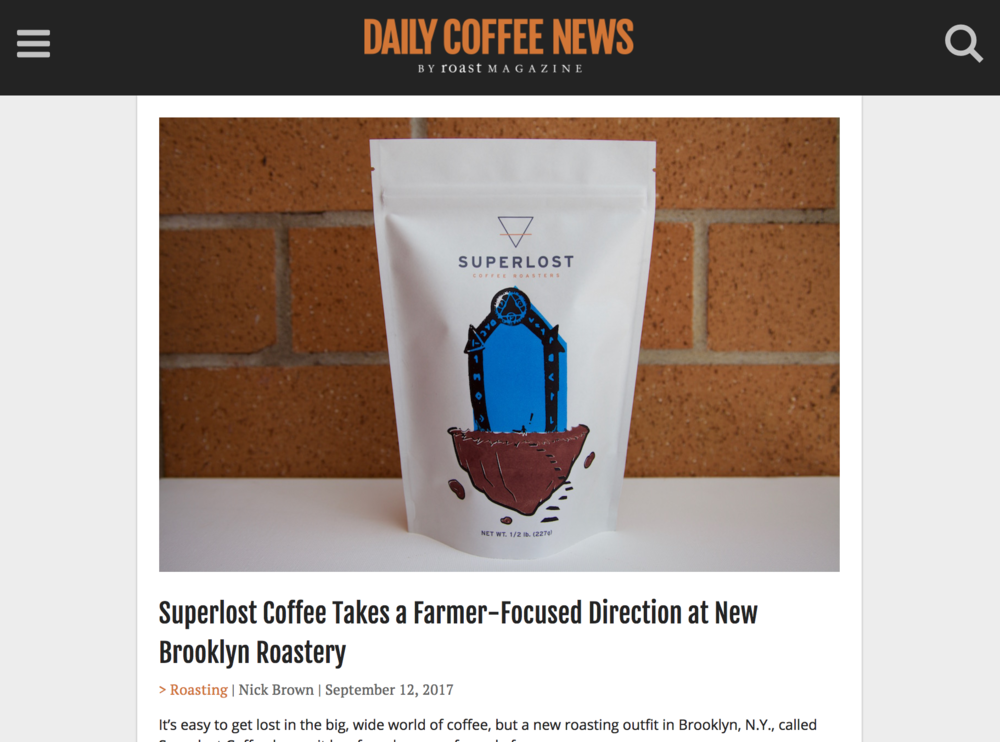 Daily Coffee News Superlost Coffee