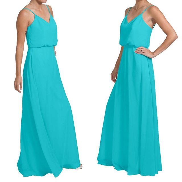 One of our faves - Avery dress in Turquoise.