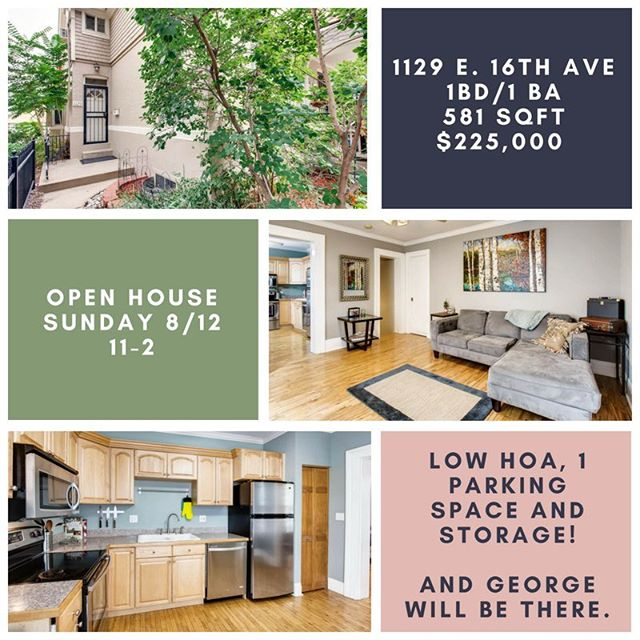 #OPENHOUSE this Sunday from 11-2!  Have you been looking for a killer investment?  How about a mortgage that's less than a lease?  Have you been looking for a cardboard cutout of George Clooney? Because I have good news for you...1129 e. 16th has all of this!  We'll see you there. 😉