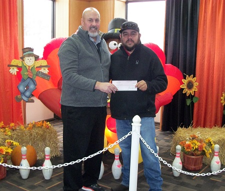 Winning $10,000 at Indiana Auto Auction's Turkey 10K was Mint Auto Sales.
