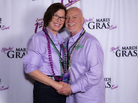 Georgianne and John Poteet enjoy the fun at a LAFCAA Rockin' Mardi Gras Event. This year's party promises to be more fun than ever.