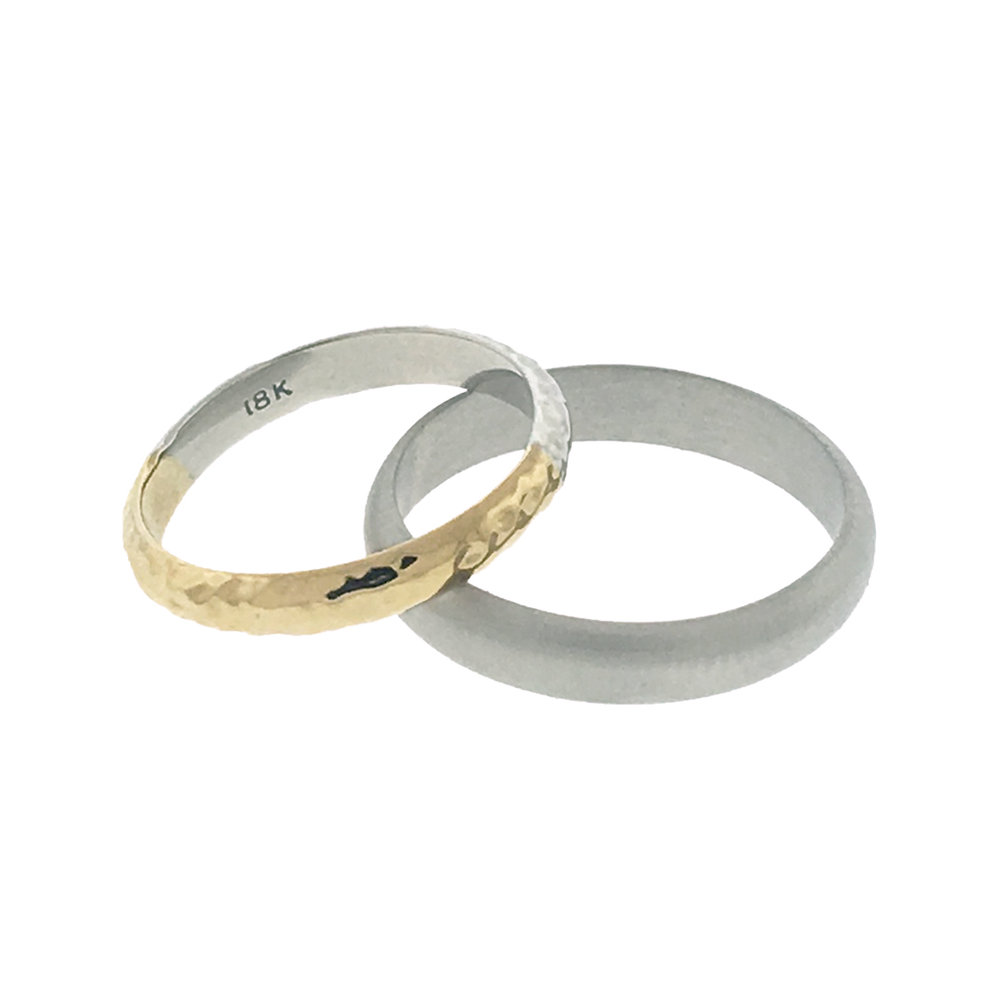 18K WEDDING BANDS