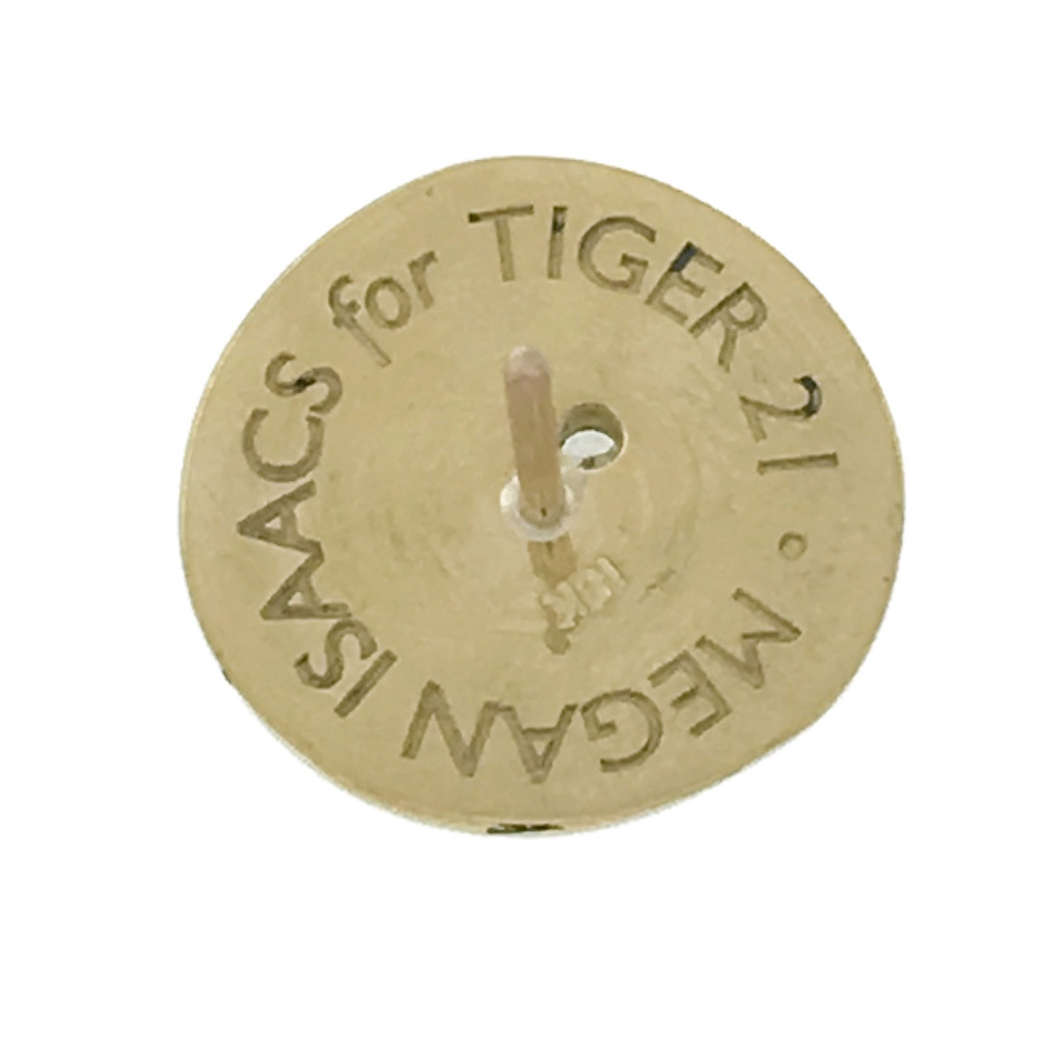 TIGER 21 PIN - BACK