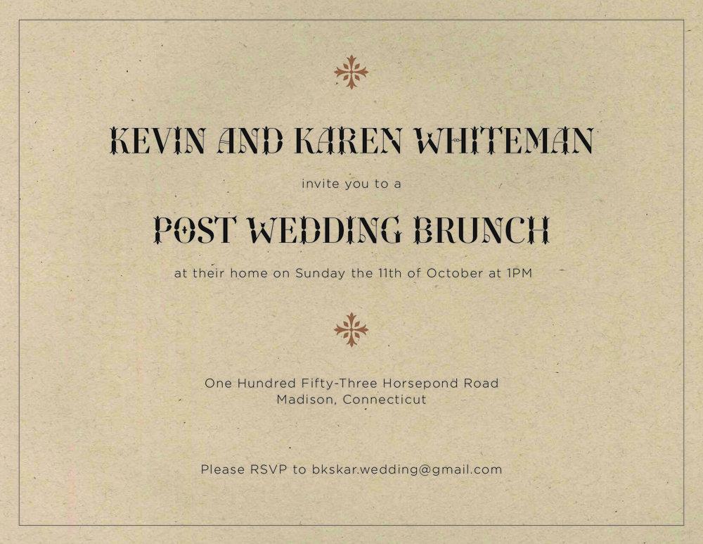 Whiteman park wedding invitations