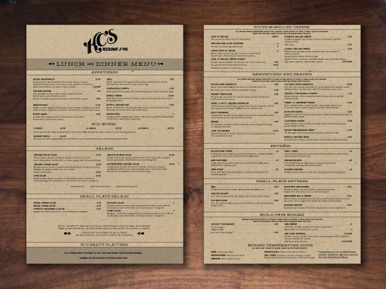 KC's Restaurant & Pub Branding