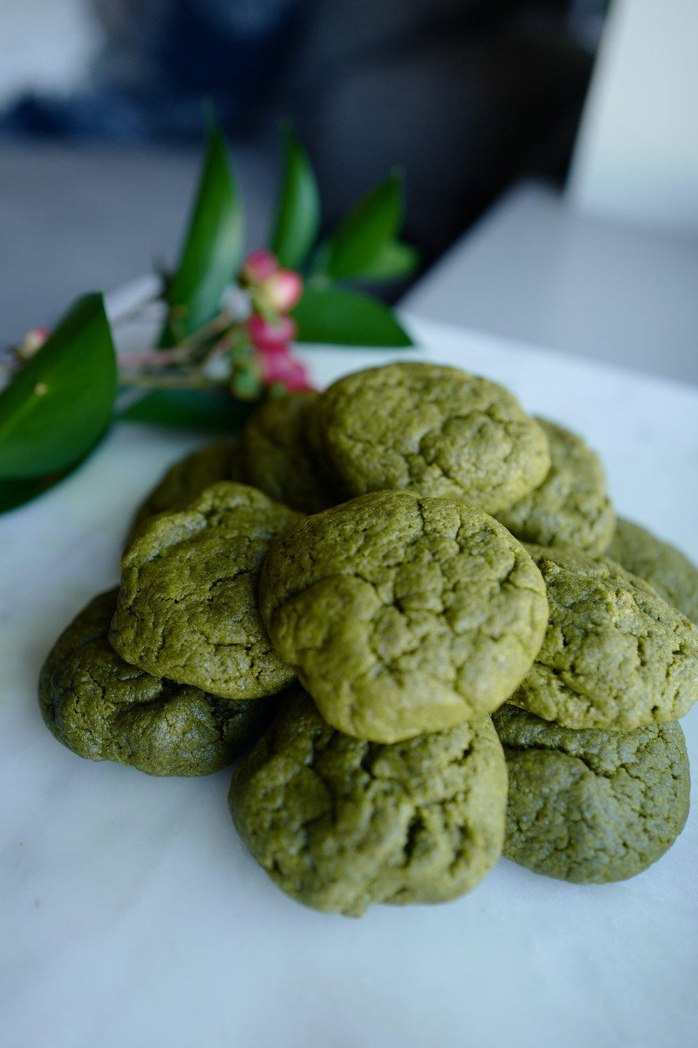 Christmas Matcha Cookies- Food- A Briutiful Life