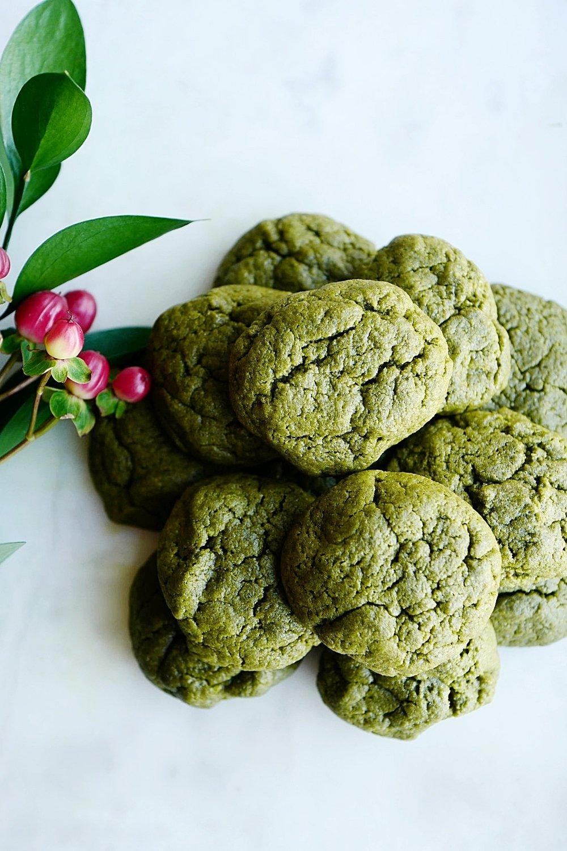 Vegan Matcha Sugar Cookies -