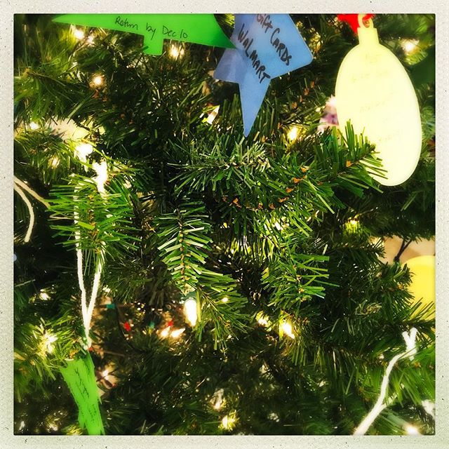 Our giving tree is out because it's never too early to start sharing the love. #methodistchurcheg #givingtree #christmasspirit
