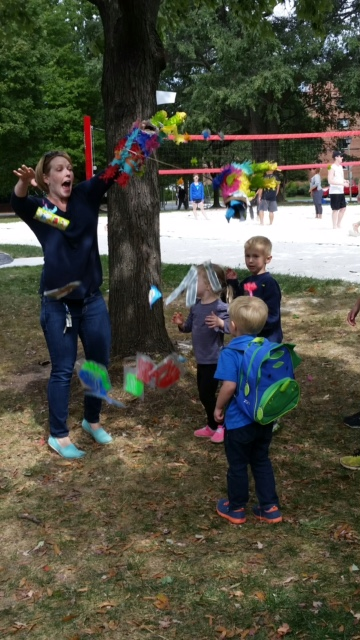 Important cultural tip: if the piñata malfunctions, you can just tear it open and throw the candy (see my example).