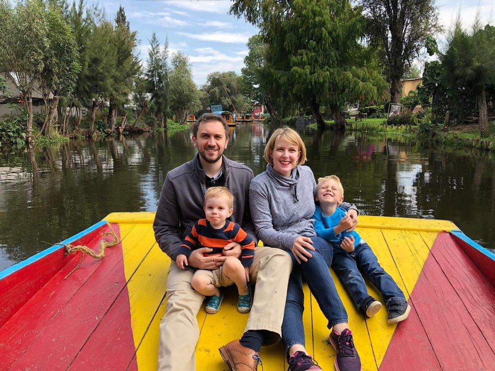 worldschooling mexico xochimilco whole family boat.JPG