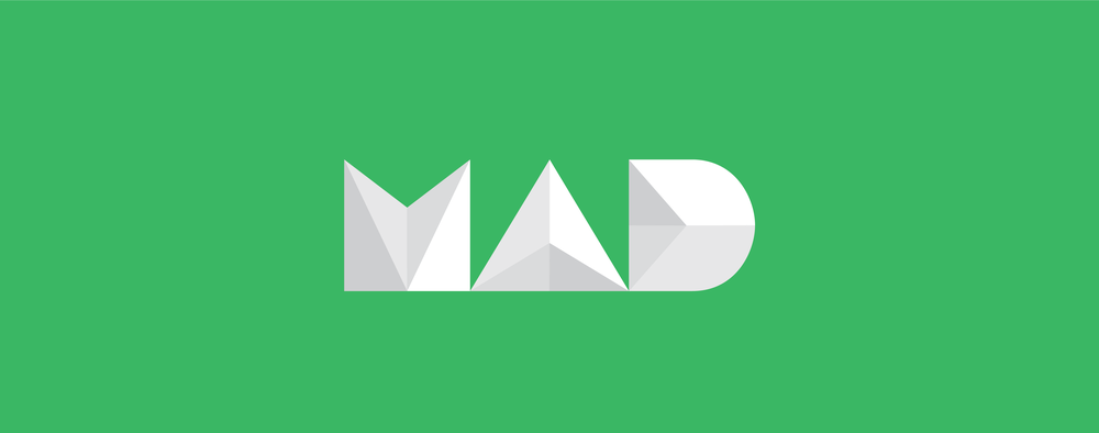 Mobile App Development   An adaptation of the MAD logo for the 2016/2017 school year. MAD is a computer science organization that specializes in mobile application development and teaching its members skills in the area.