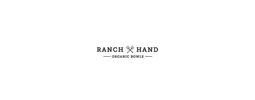 Ranch Hand   A logo for a small business that delivers organic meals to college students.