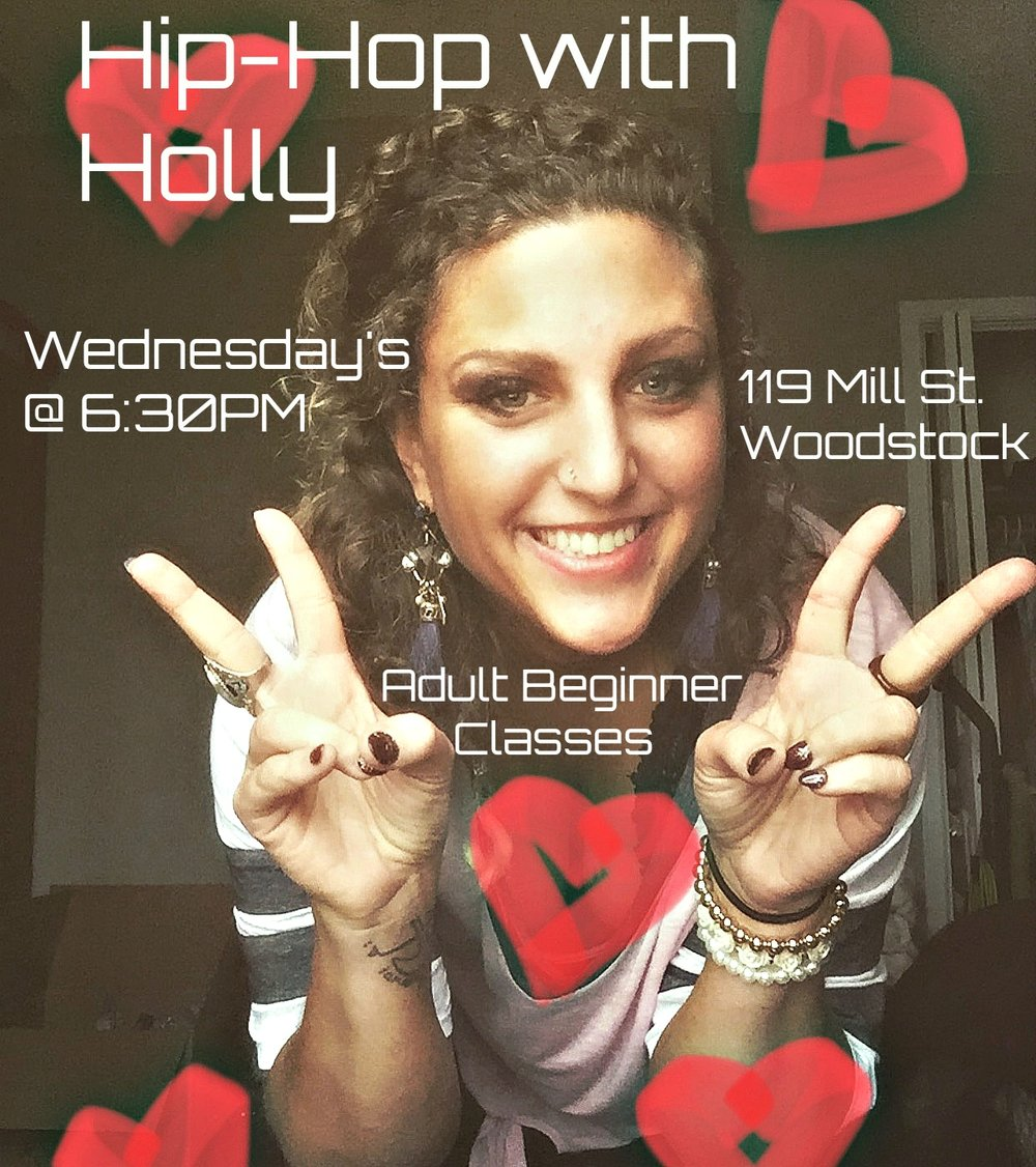 ADULT BEGINNER Hip-hop Dance Classes - Have you always wanted to learn Hip-Hop, but felt like you didn't know where to start? Holly's Hip-Hop Classes are designed specifically for adult beginner's looking to learn the latest dance moves.