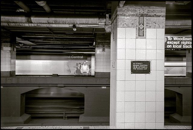 I've been looking back through my archives lately and found this throwback from my photography class days! #nycphotography with a subway flying through... Love that #kodakfilm #trix400 look!