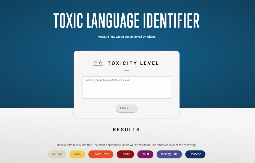 Toxic Language Identifier Preview