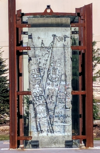 Portion of the Berlin Wall, grounds of the Nemacolin Resort.