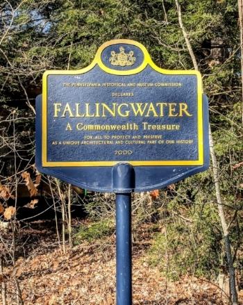 Fallingwater, A Frank Lloyd Wright masterpiece in Mill Run, PA