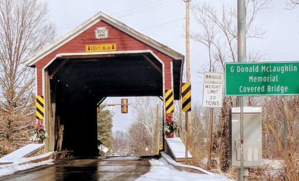 Jacks Mountain (G. Donald McLaughlin Memorial Covered Bridge) outside Fairfield, PA.