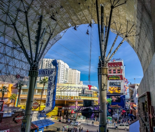 Riders on Slotzilla, Fremont St, Downtown Las Vegas