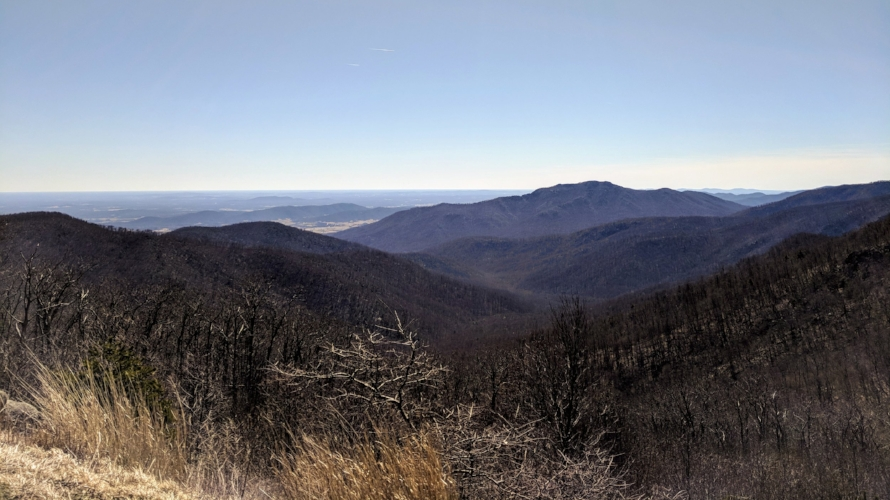 View from Skyline Drive, Shenandoah National Park, Virginia.