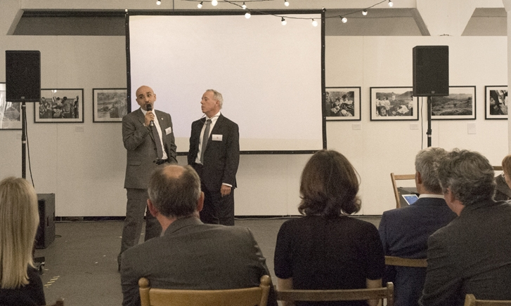 Akram Al Ramini, Executive Director of Asia Development Training and Michael Lundquist, Executive Director of Polus Center for Social & Economic Development