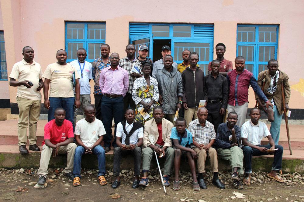 Landmine survivors, Minova, DRC
