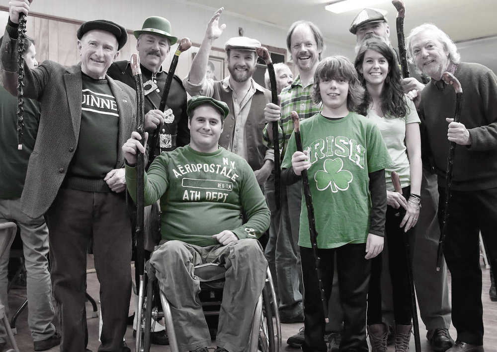 Winners of the 2017 Shillelagh Awards, pictured here with last year's entertainers, from left Senator Stephen Brewer, Quaboag Highlanders, The Yokeshires, Dennis Fleming. Front row Chris Higgins, Harry Lewis, Amy Lapointe, and Kevin O'Hara. Missing from photo Dede Charlton, Forest Fessenden, Sonja and Mike Blaney and Lisa Rollins.