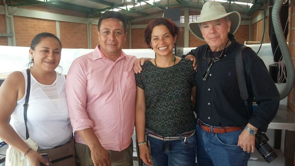 Adelmo, second from left, as part of the Polus Center Cauca outreach team. Pictured from left: Paola Meneses, Clara López, Michael Lundquist.