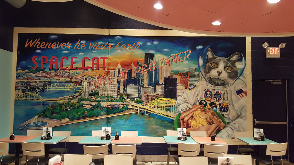 Space Cat (Installed) - P&G Diner Mt Lebanon