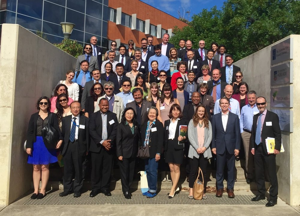 APEC WRF Participants photographed in front of the Australian Wine Research Institute (AWRI).