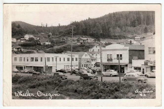 Downtown Wheeler, oregon, circa 1940s