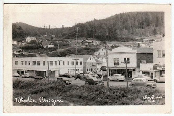 Downtown Wheeler, oregon, circa 1940s